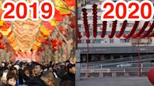 Photos from the Lunar New Year show how coronavirus turned China's biggest party into a washout