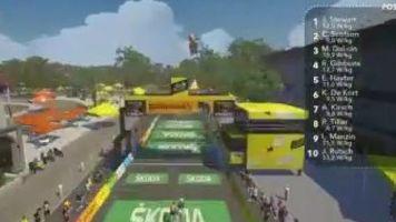 Cyclisme - Tour virtuel - Tour de France virtuel : le résumé de la 3e étape en vidéo