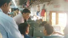 Railway Minister Piyush Goyal travels in Kota Janshatabdi Express, takes passengers' feedback