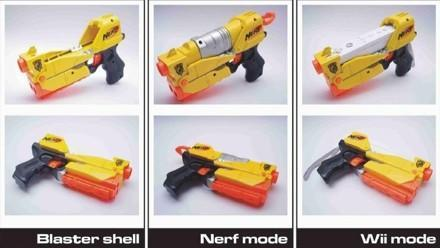 Nerf Blaster Controller for the Wii brings it all full circle