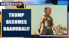 US President Donald Trump shares video of himself as Baahubali