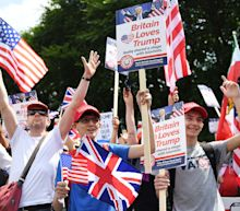 Pro-Trump rally by English far-right activists in London
