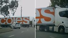Coles truck driver's shocking move sparks fury - but who's right?