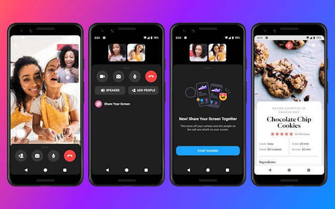 Facebook Messenger screen sharing