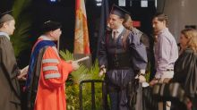 Paralyzed Student Walks At Graduation Ceremony