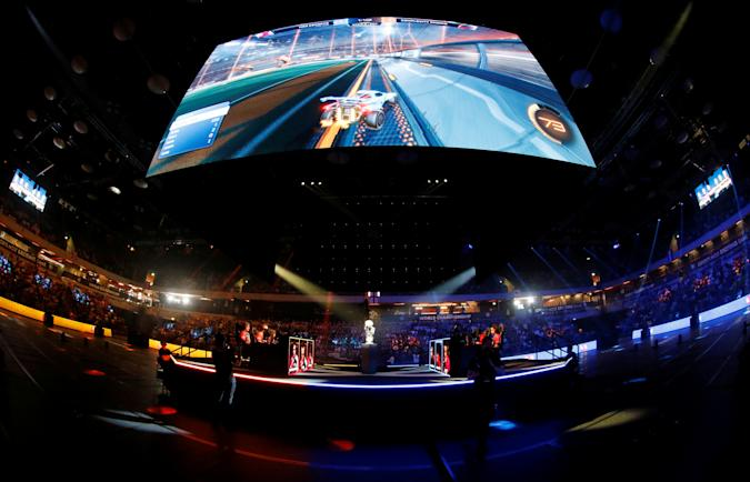 General view during the final day of the Rocket League Championship Series Finals in London, Britain, June 10, 2018. REUTERS/Tom Jacobs