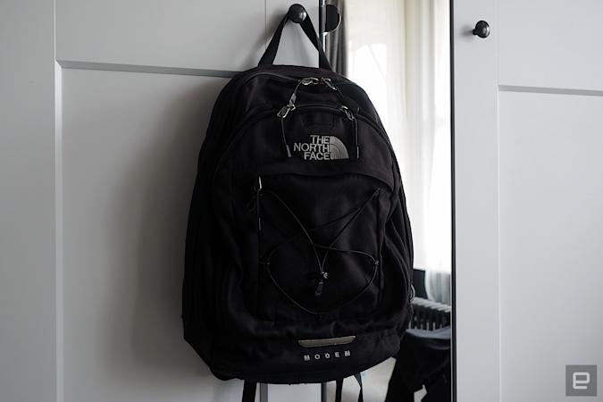 Image of a The North Face Modem backpack, purchased in 2004, and only now giving up the ghost.