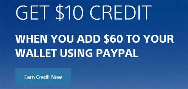 Add $60 from PayPal to your PSN wallet, get bonus cash back