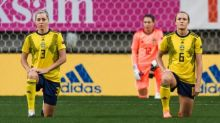 'Guess what? We'll do it again': Sweden footballers vow to keep taking a knee