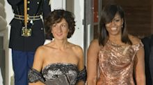 Michelle Obama Dazzles in Rose Gold Gown at Final State Dinner