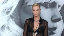 Charlize Theron Wears a Totally See-Through Shirt —and It's Not a Wardrobe Malfunction