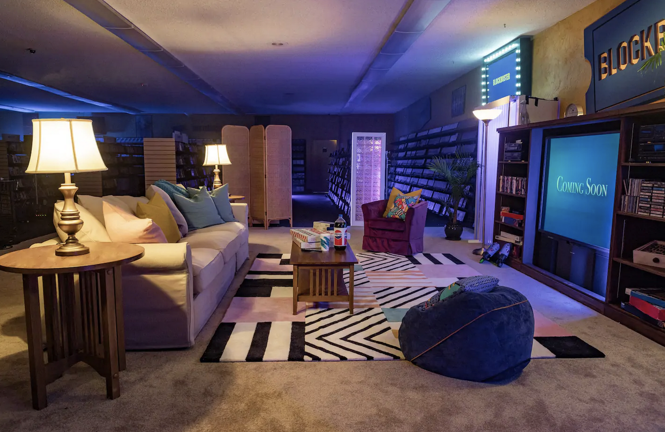 Movie lovers rejoice! The world's last Blockbuster Video store will soon be rentable for sleepovers on Airbnb
