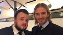 David Beckham admits he was 'starstruck' meeting Game Of Thrones' Samwell Tarly
