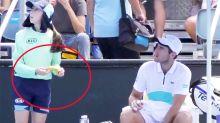 'Nasty piece of work': Australian Open player told off over weird ball girl request