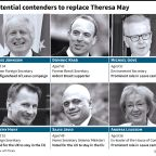 Contenders jockeying to replace British PM