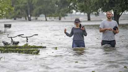 Flood threat lingers as Barry dumps more rain