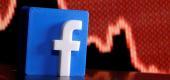 A 3D-printed Facebook logo. (Reuters)