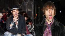 Johnny Depp y Liam Gallagher: alcohol y desmadre en Glastonbury