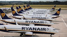 Ryanair reports record £701m loss as Covid forces it to slash flights