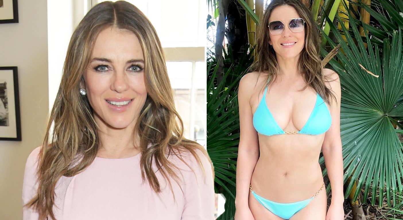 Elizabeth Hurley, 53, hints at age-defying secret in latest bikini post