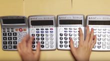 Japanese YouTuber uses calculators as a musical instrument