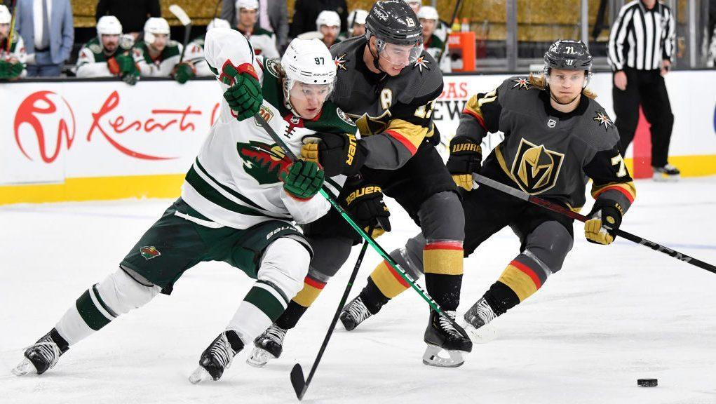 Wild win, but short-staffed Golden Knights tie Avalanche for West lead