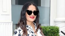 Salma Hayek Wore $8,000 Worth of Clothes in One Day — Including These Crazy Gucci Shoes