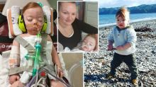 Mum's warning after common cold nearly kills her 18-month-old son
