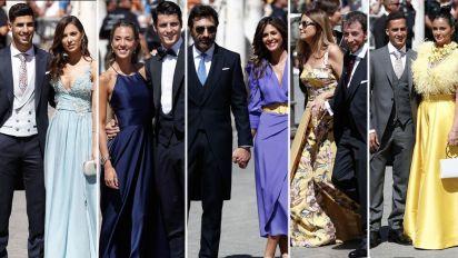 El desfile de invitados a la boda de Sergio y Pilar