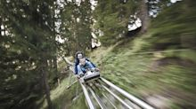 What's it like to ride the UK's first Alpine roller coaster?