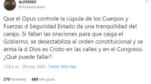 Críticas a De los Cobos tras desvelarse que pertenece al Opus Dei