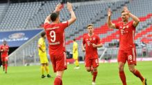 Lewandowski, Gnabry net twice as Bayern go five points clear