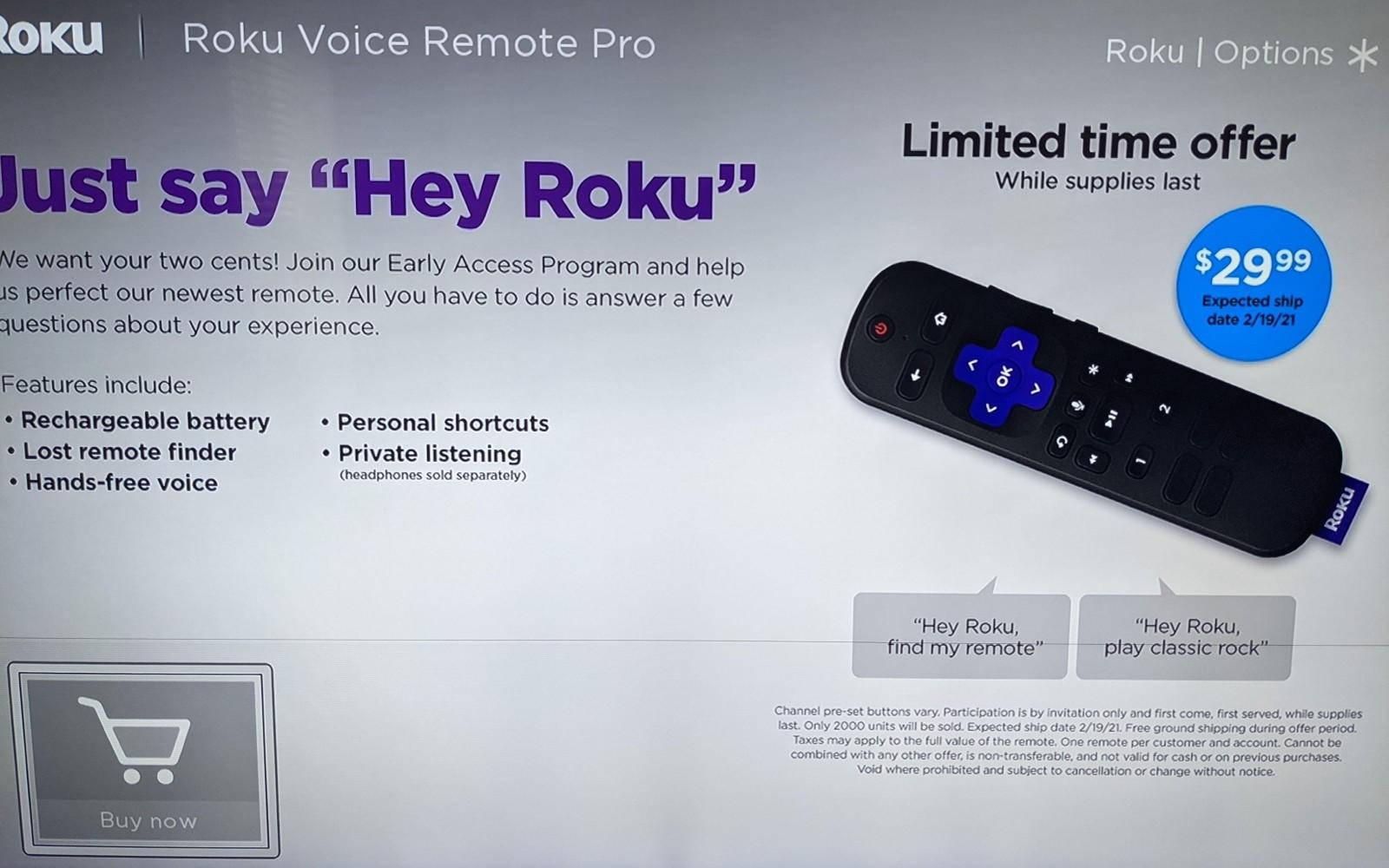 Roku is testing a remote with a built-in battery and customizable buttons - Engadget