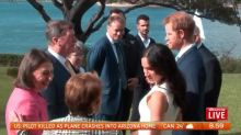 Live pictures capture the Duke and Duchess of Sussex in Sydney