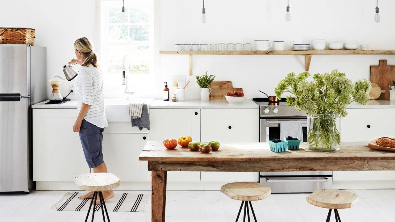 <p>As with most everything in life, the first question you should reflect on is how much you want to spend on your new all-white kitchen. For example, white cabinets can be beautiful, but if you opt for a low-to-medium quality, the wood won't be as durable in the long run.</p><p>Similarly, adding a high-gloss finish can cost major moola, but applying this smooth surface will make the cabinets <em>much</em> easier to wipe down and clean in the future. Take some time to consider your budget, thinking about all of hidden costs, and then consider if the final price tag matches your bank account.</p>