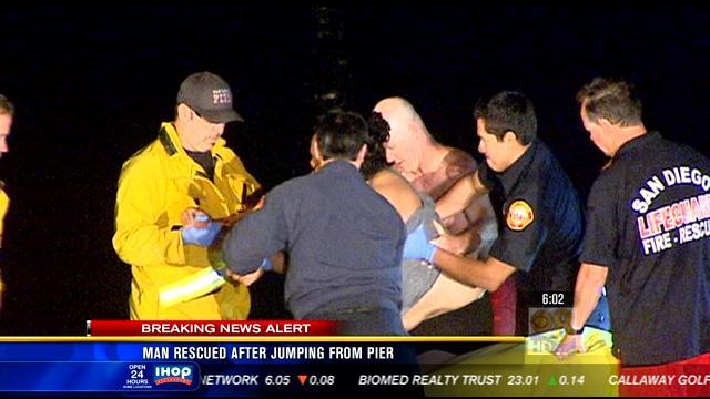 Man rescued after jumping from Ocean Beach Pier