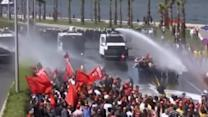 Turkish police fire water cannons at protesters after mine disaster