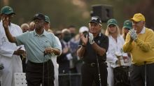 US Masters in ceremonial salute to Elder