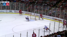 Petr Mrazek's puck-handling miscue leads to Josh Bailey goal (Video)