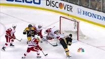 Eriksson backhands a shot past Gustavsson