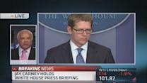 Jay Carney holds White House briefing