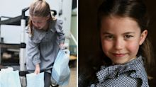 Princess Charlotte delivers handmade pasta to pensioners in new birthday photographs