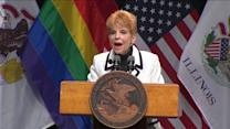 RAW: Judy Baar Topinka offers to be flower girl for same-sex weddings