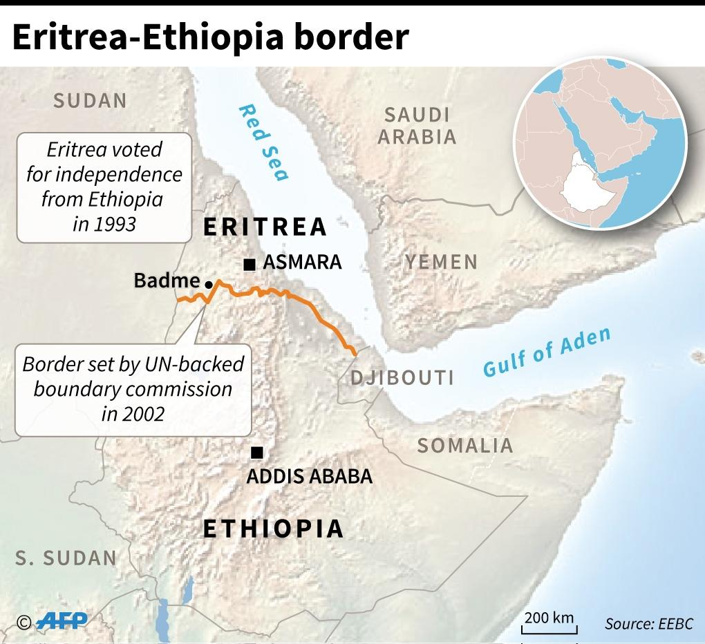 Peace hinges on Ethiopia abiding by a 2002 UN ruling on the frontier which splits some border areas home to ethnic Irob between both countries, who fought a war costing some 80,000 lives between 1998 and 2000 (AFP Photo/John SAEKI)