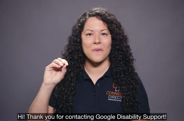 Google Disability Support is more accessible with sign language specialists
