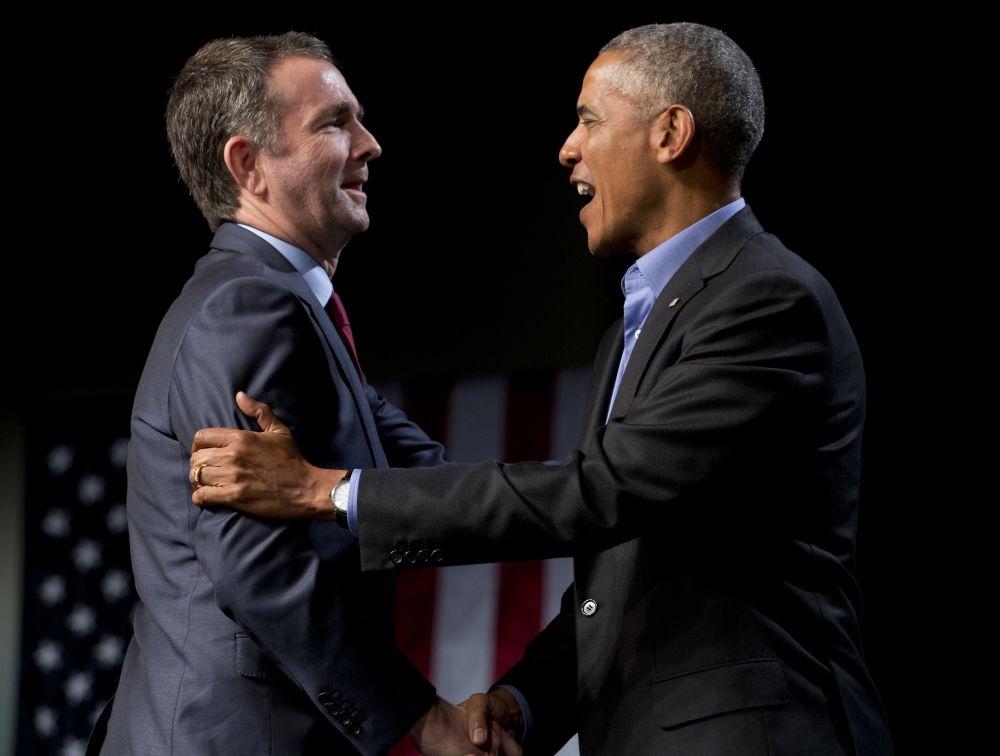 Barack Obama and Ralph Northam