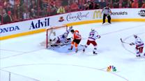 Lundqvist sticks out the leg to deny Raffl
