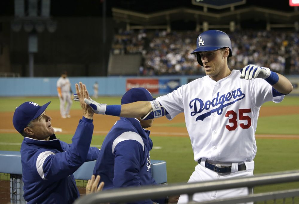 Cody Bellinger made history again. This time setting a home run record for NL rookies. (AP)