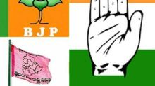 Telangana polls: With BJP-Cong eyeing for second spot, TRS is ahead