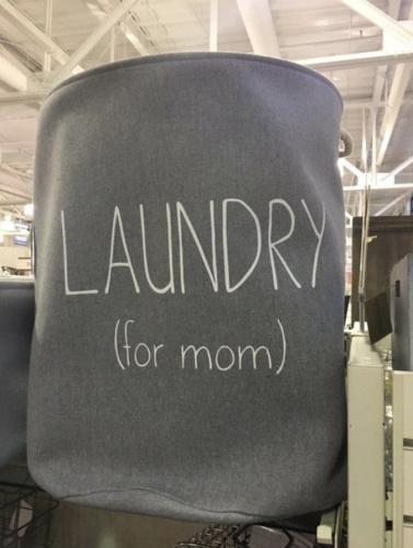 The laundry basket that drew public criticism. (Photo: Twitter)